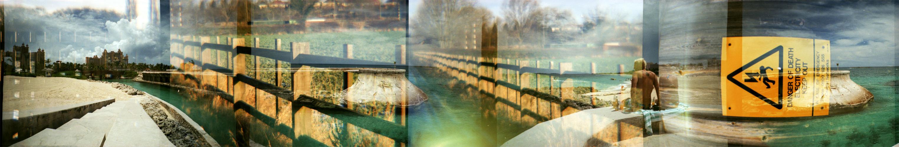 Double Exposure - Horizon Panorama/Lomo L-CA+